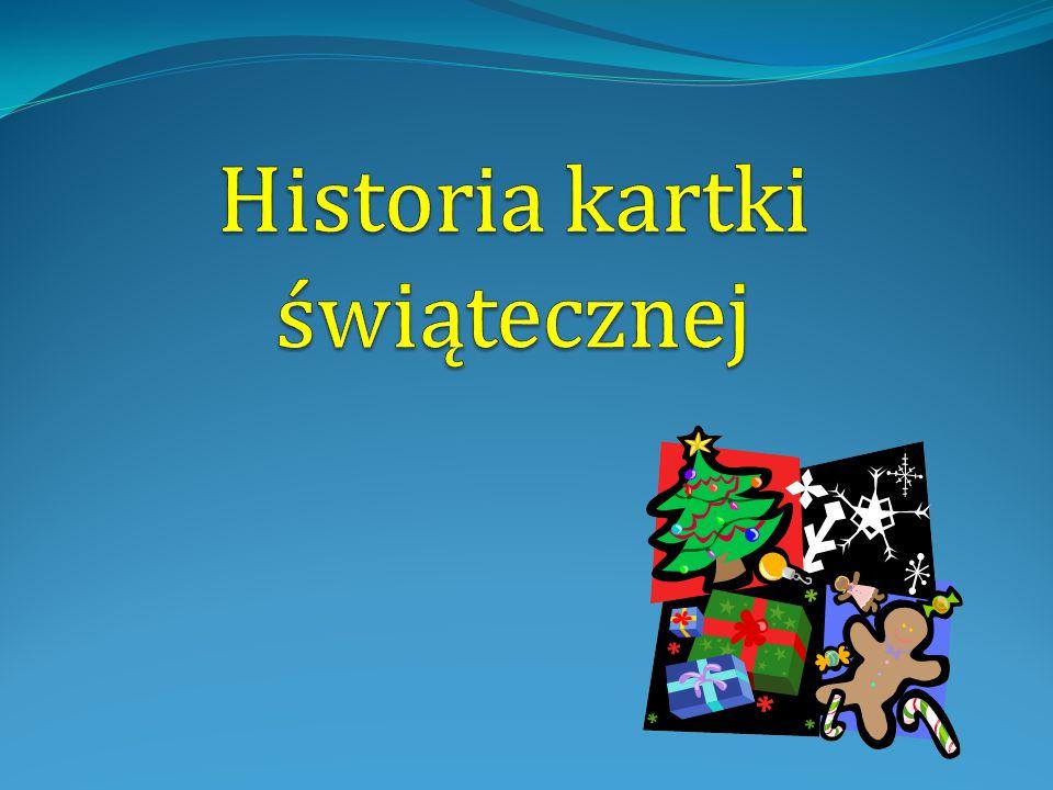 Historia kartki świątecznej