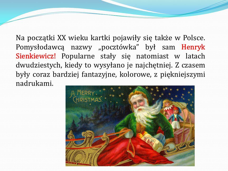 Na początki XX wieku kartki pojawiły się także w Polsce