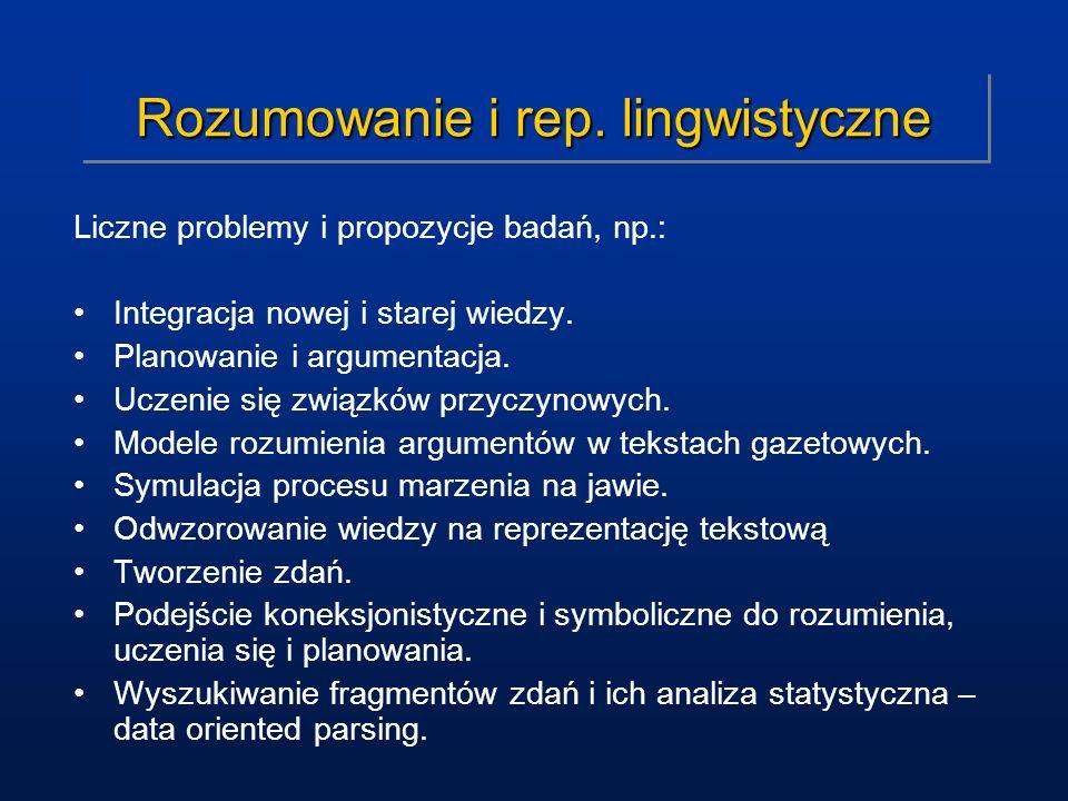 Rozumowanie i rep. lingwistyczne