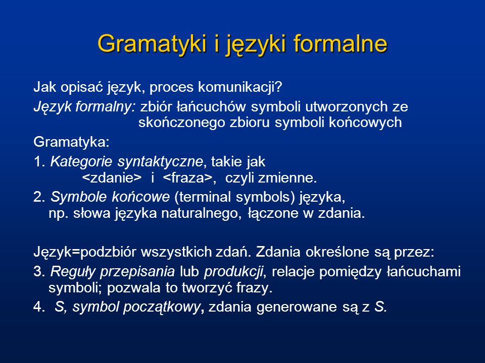 Gramatyki i języki formalne