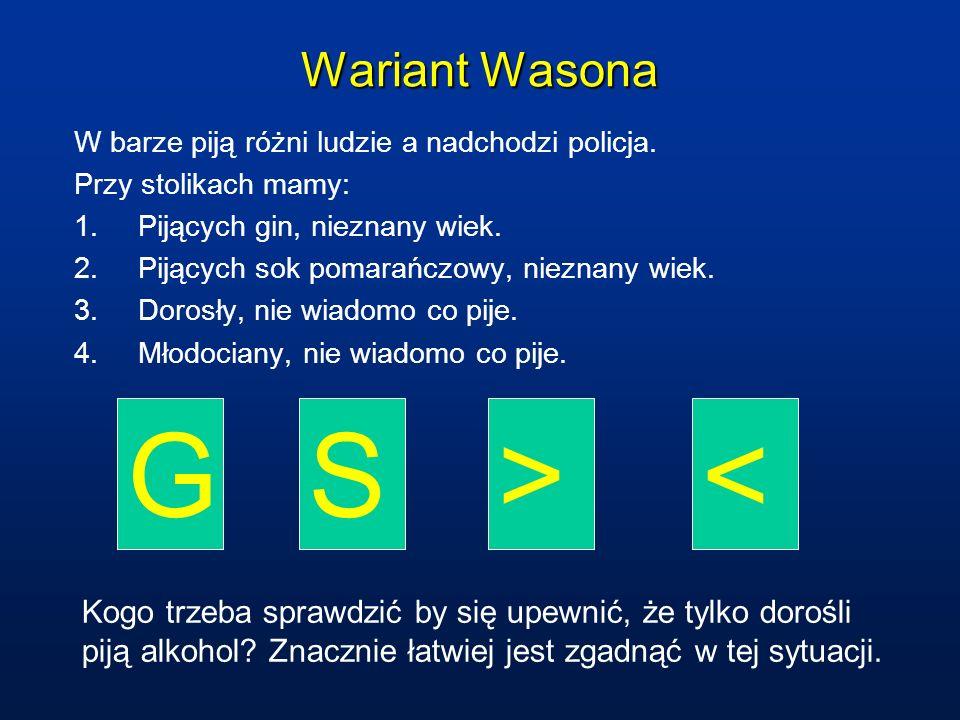 G S > < Wariant Wasona