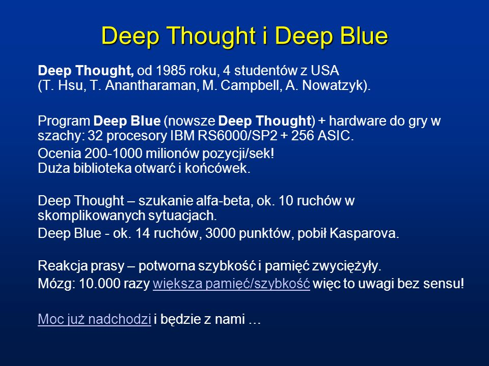 Deep Thought i Deep Blue