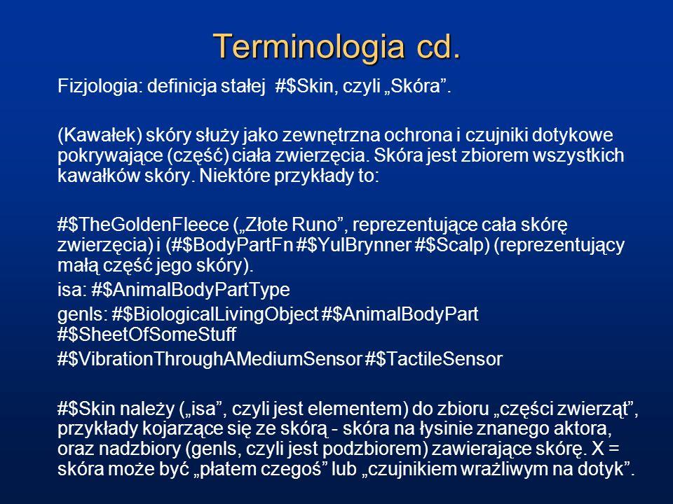 """Terminologia cd. Fizjologia: definicja stałej #$Skin, czyli """"Skóra ."""