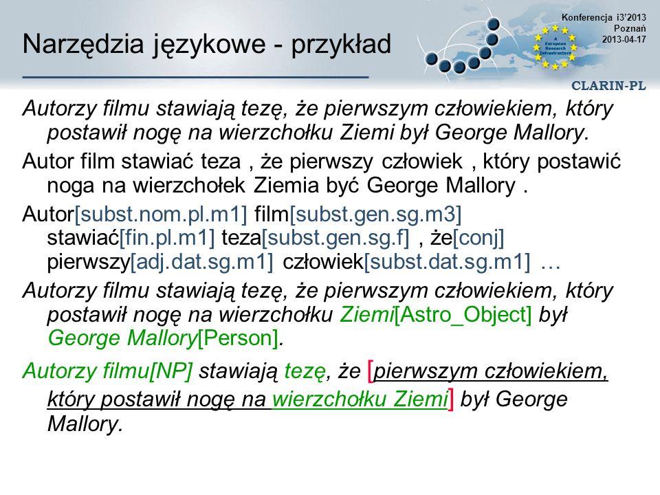 Narzędzia językowe - przykład