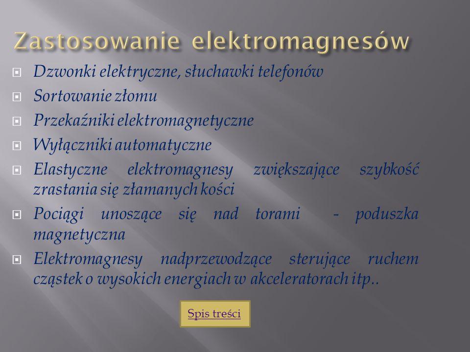 Zastosowanie elektromagnesów