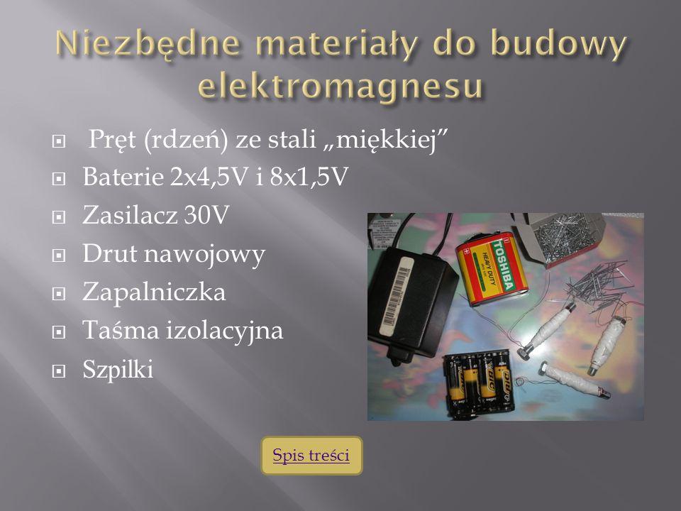 Niezbędne materiały do budowy elektromagnesu