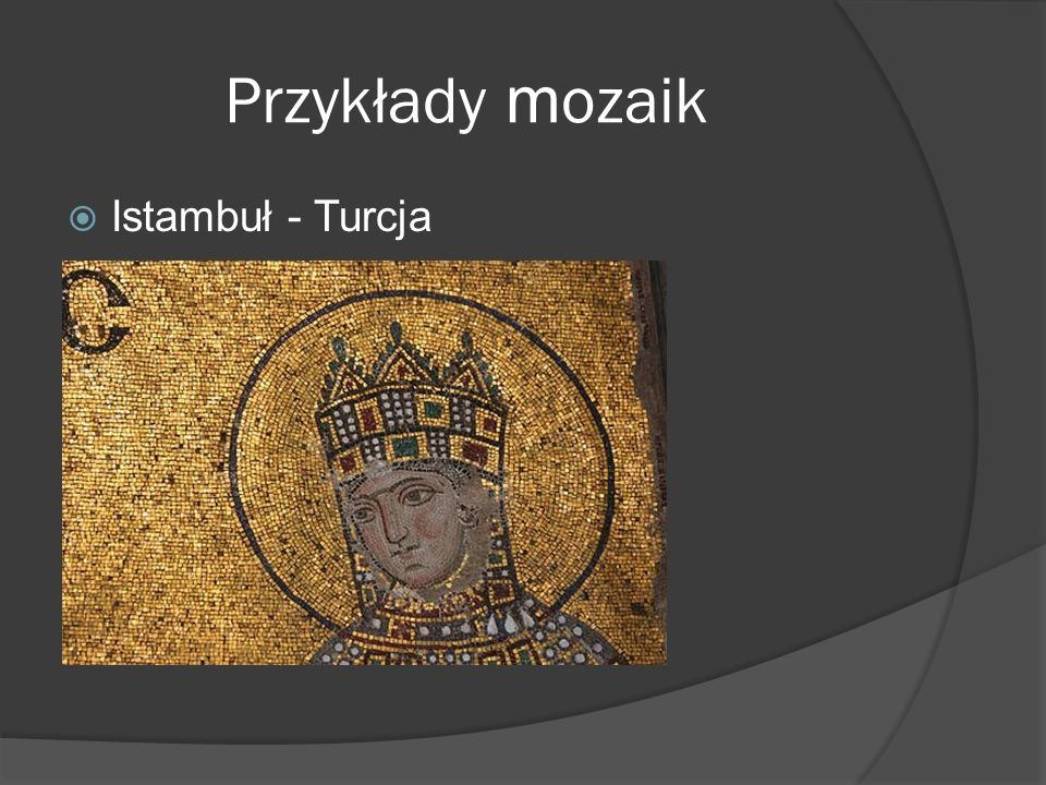 Przykłady mozaik Istambuł - Turcja