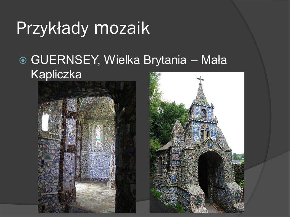 Przykłady mozaik GUERNSEY, Wielka Brytania – Mała Kapliczka