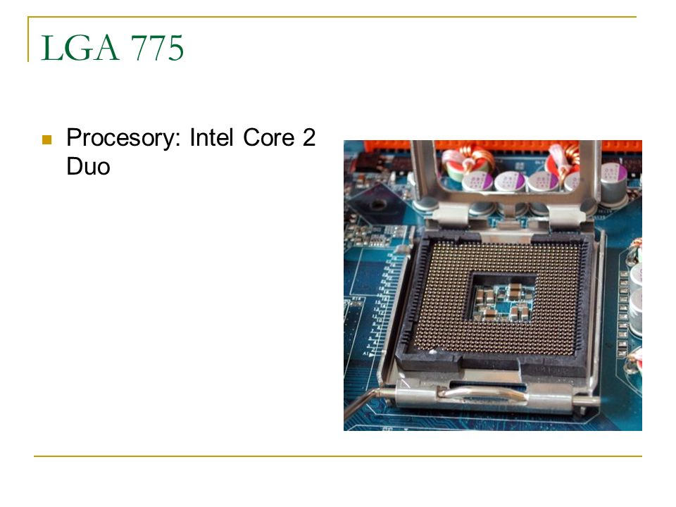 LGA 775 Procesory: Intel Core 2 Duo