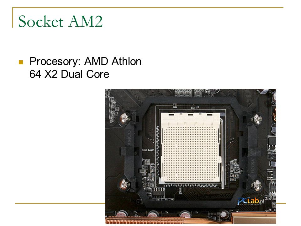Socket AM2 Procesory: AMD Athlon 64 X2 Dual Core