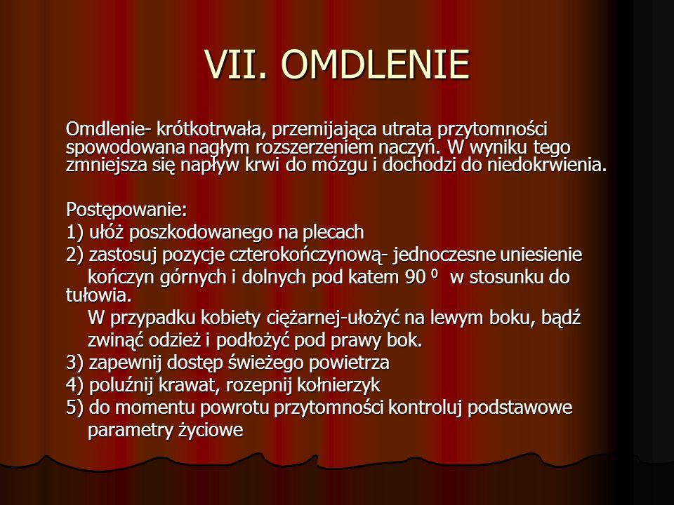 VII. OMDLENIE