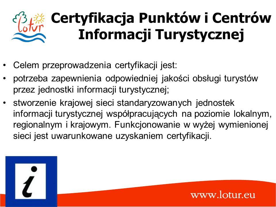 Certyfikacja Punktów i Centrów Informacji Turystycznej