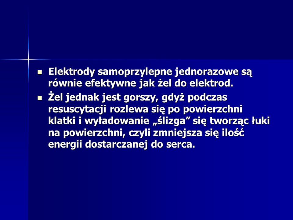 Elektrody samoprzylepne jednorazowe są równie efektywne jak żel do elektrod.