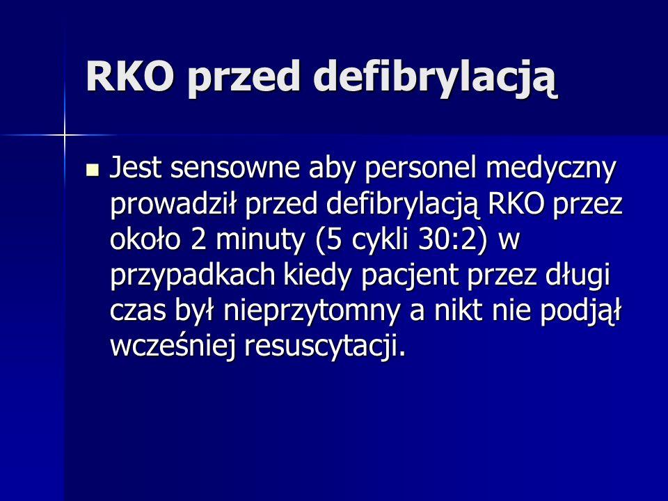 RKO przed defibrylacją