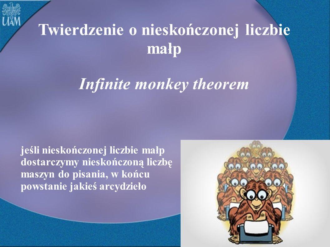 Twierdzenie o nieskończonej liczbie małp Infinite monkey theorem