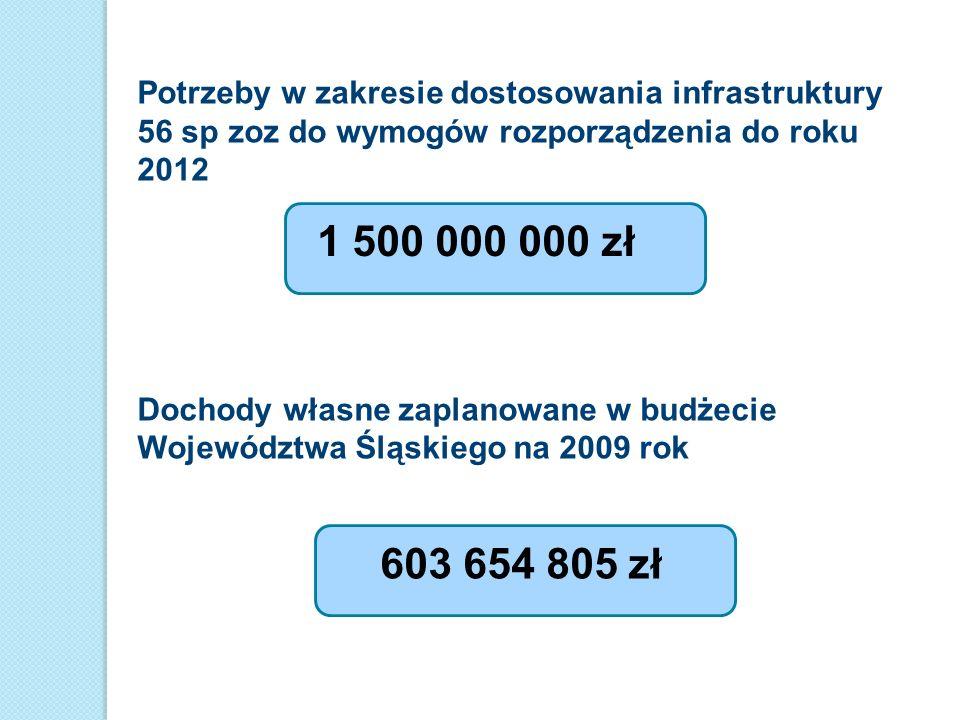 Potrzeby w zakresie dostosowania infrastruktury 56 sp zoz do wymogów rozporządzenia do roku 2012