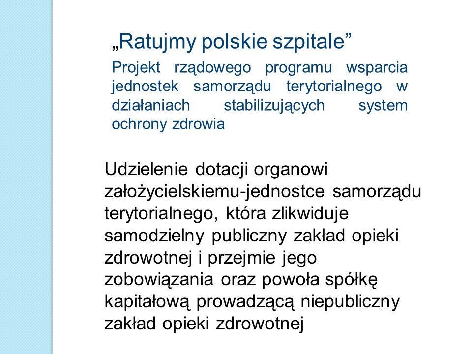 """Ratujmy polskie szpitale"