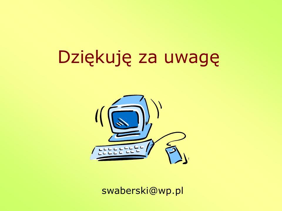 Dziękuję za uwagę swaberski@wp.pl