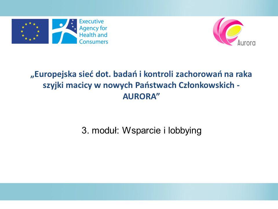 3. moduł: Wsparcie i lobbying