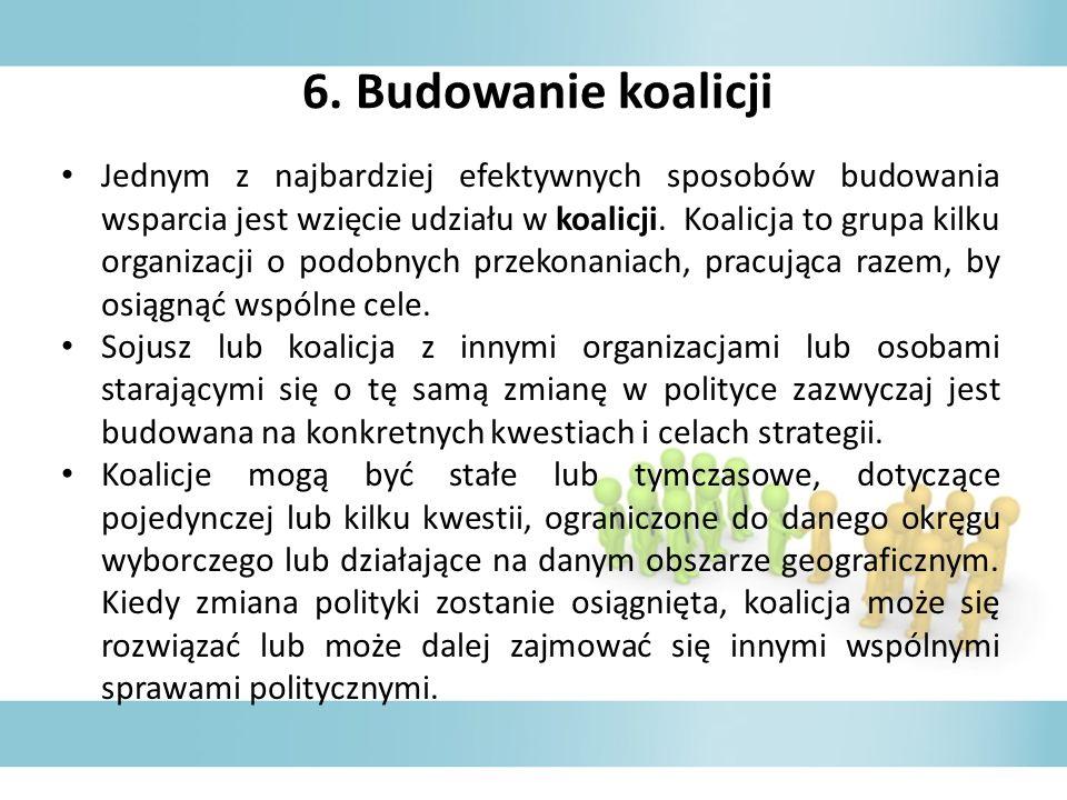 6. Budowanie koalicji