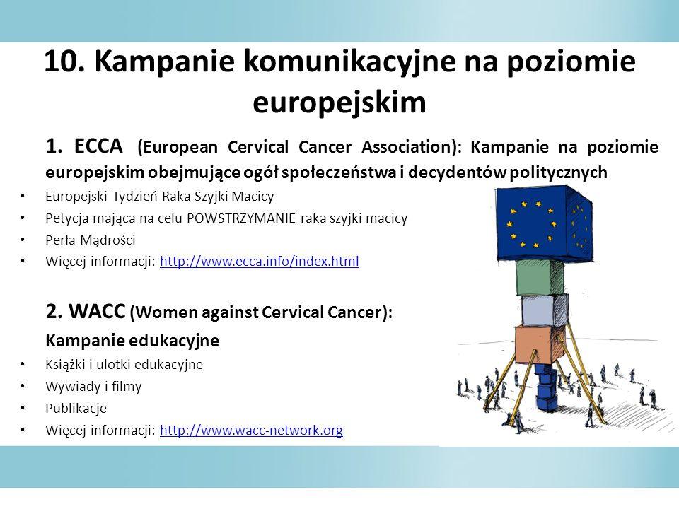 10. Kampanie komunikacyjne na poziomie europejskim