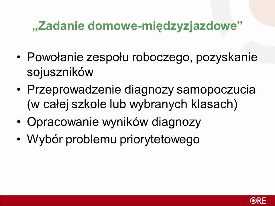 """""""Zadanie domowe-międzyzjazdowe"""