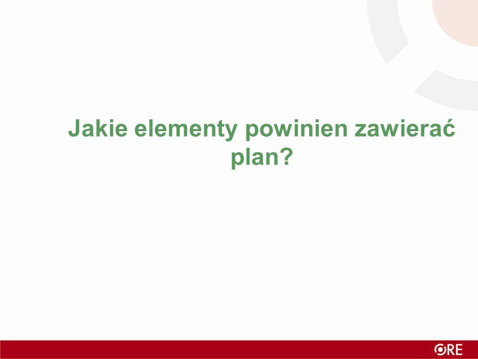 Jakie elementy powinien zawierać plan