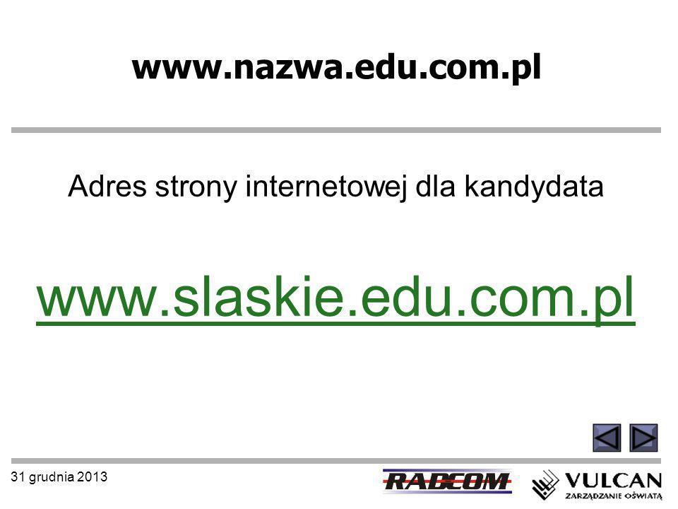 Adres strony internetowej dla kandydata