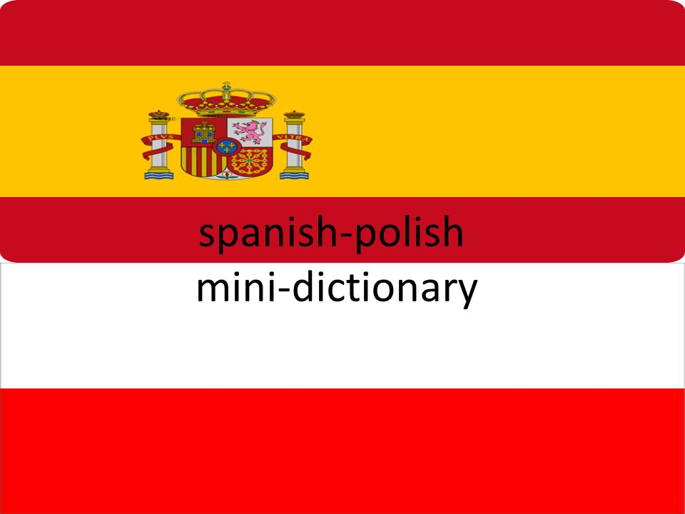 spanish-polish mini-dictionary