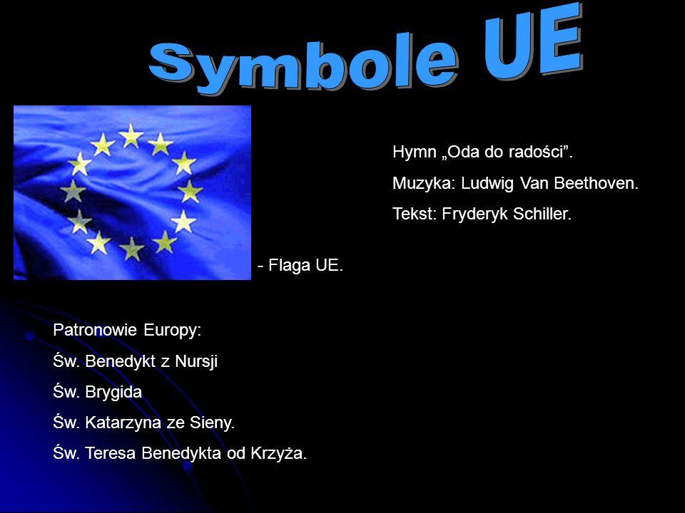 "Symbole UE Hymn ""Oda do radości . Muzyka: Ludwig Van Beethoven."