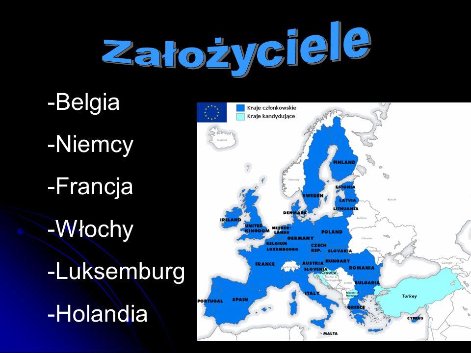 Założyciele -Belgia -Niemcy -Francja -Włochy -Luksemburg -Holandia