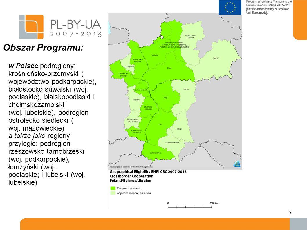 Obszar Programu: w Polsce podregiony: krośnieńsko-przemyski ( województwo podkarpackie),