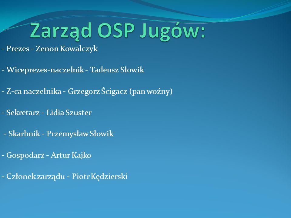 Zarząd OSP Jugów: - Prezes - Zenon Kowalczyk