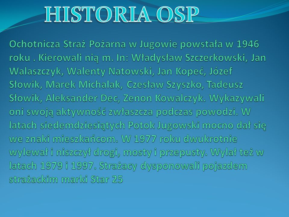 HISTORIA OSP
