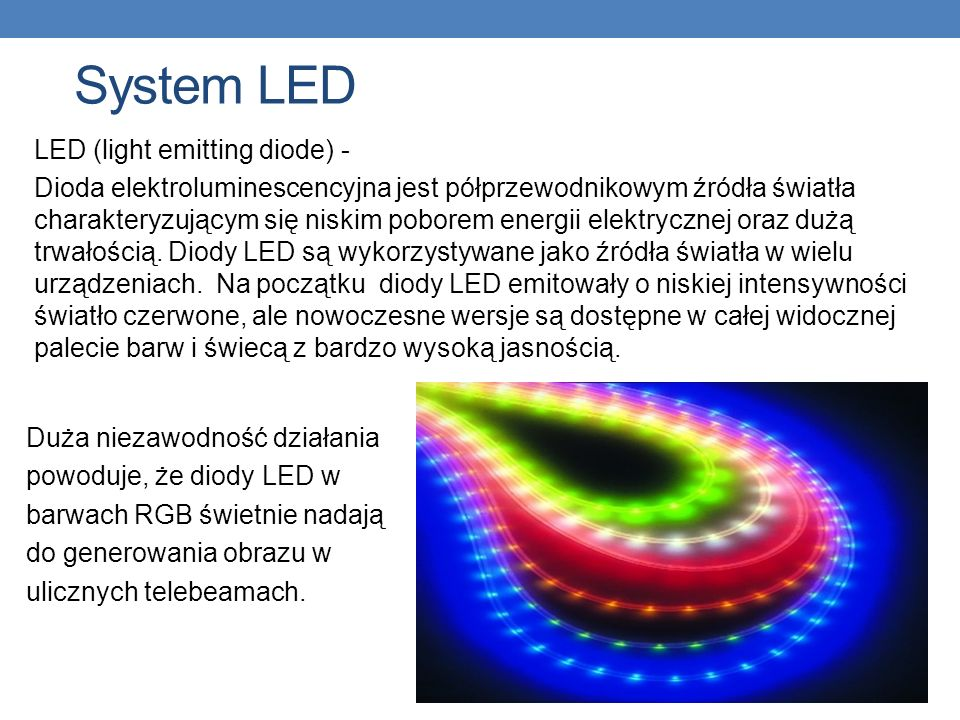 System LED LED (light emitting diode) -