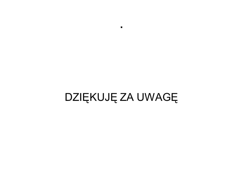 . DZIĘKUJĘ ZA UWAGĘ