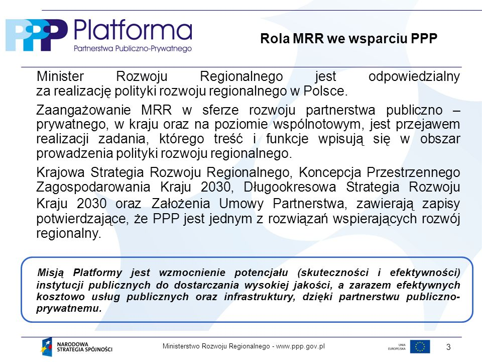 Rola MRR we wsparciu PPP