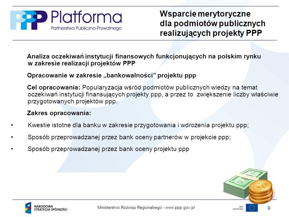 Wsparcie merytoryczne dla podmiotów publicznych realizujących projekty PPP