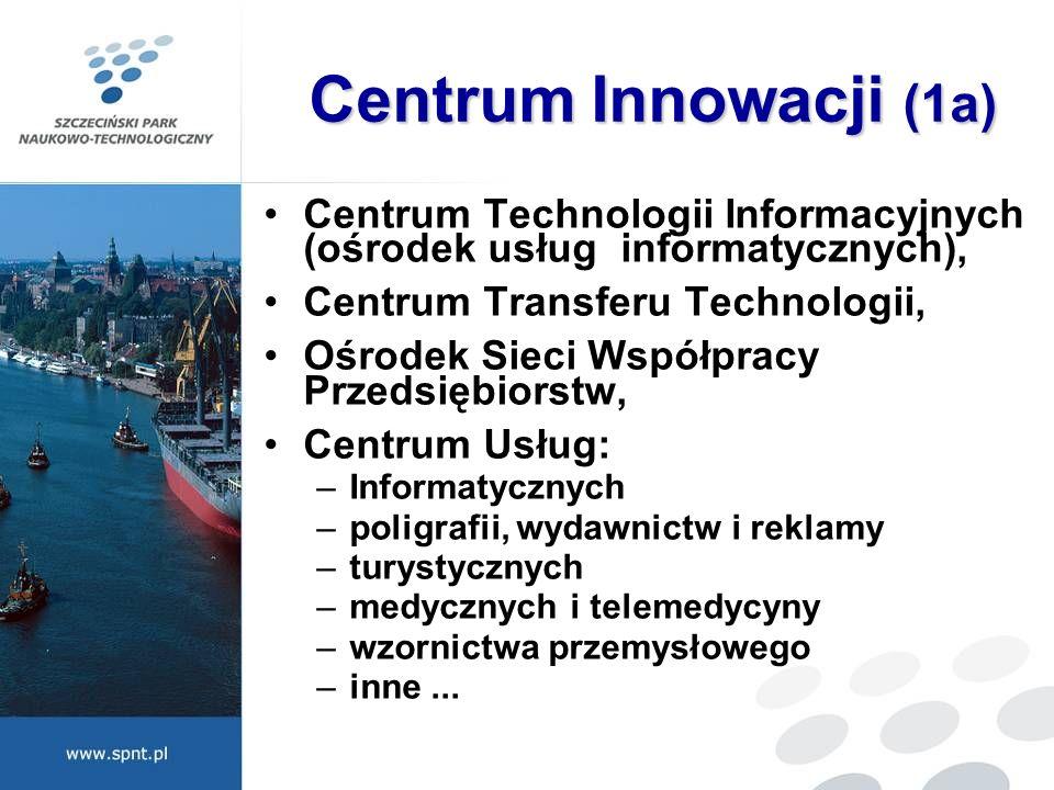 Centrum Innowacji (1a) Centrum Technologii Informacyjnych (ośrodek usług informatycznych), Centrum Transferu Technologii,