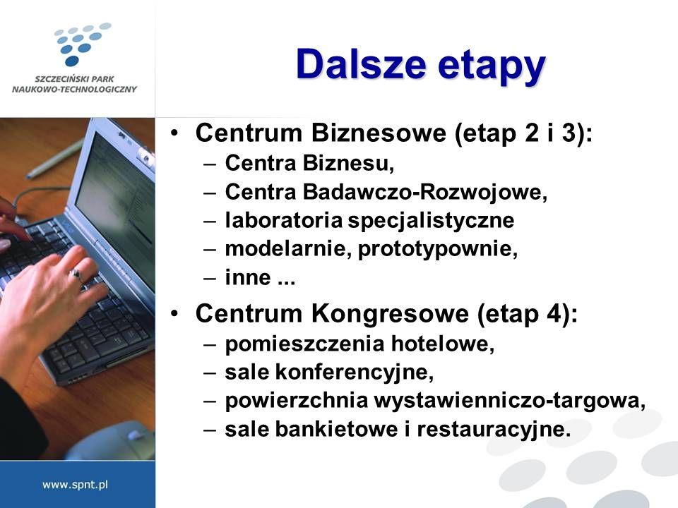 Dalsze etapy Centrum Biznesowe (etap 2 i 3):
