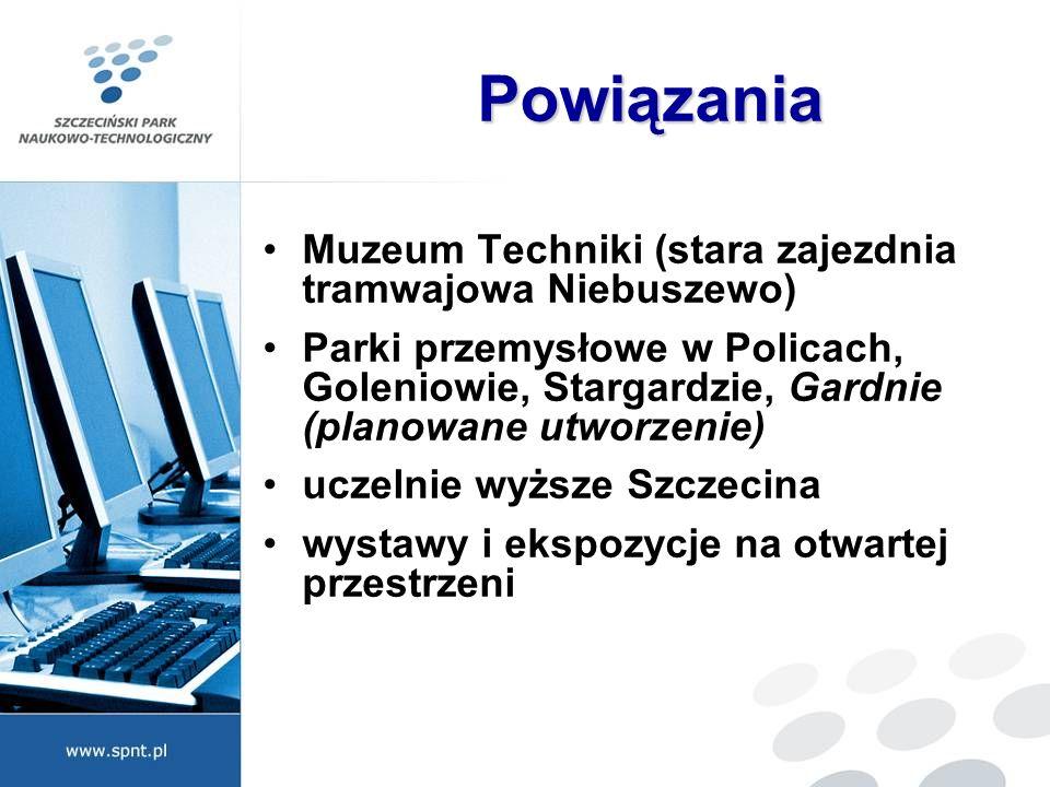 Powiązania Muzeum Techniki (stara zajezdnia tramwajowa Niebuszewo)