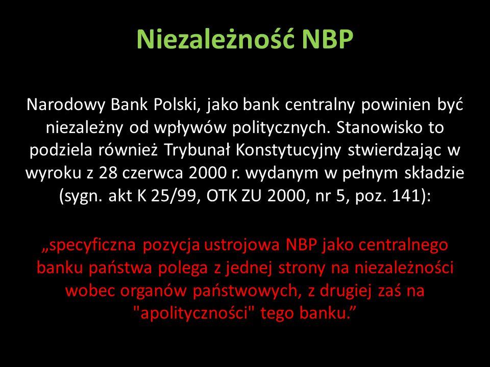 Niezależność NBP