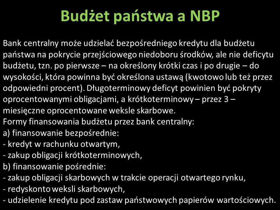 Budżet państwa a NBP .