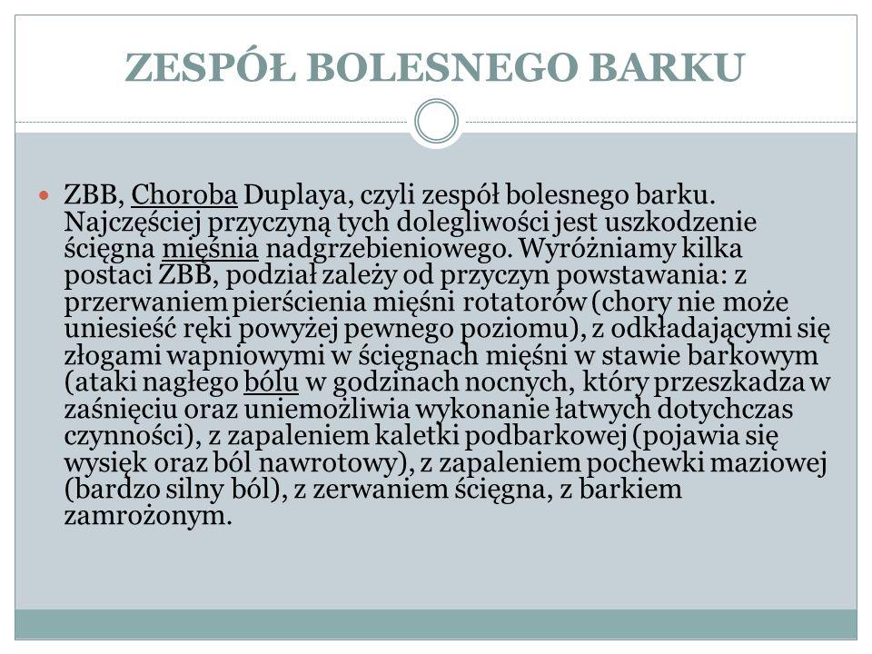 ZESPÓŁ BOLESNEGO BARKU