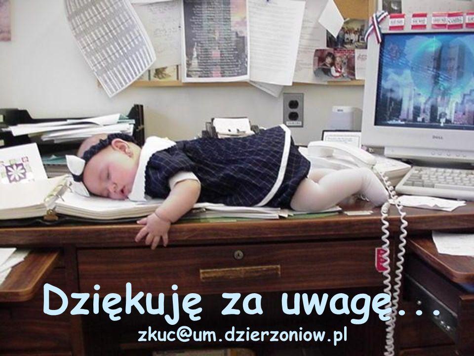 Dziękuję za uwagę... zkuc@um.dzierzoniow.pl