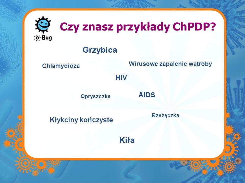 Czy znasz przykłady ChPDP