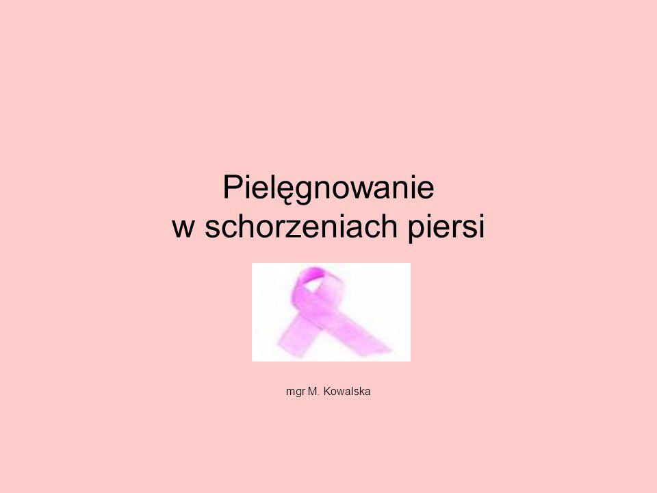 Pielęgnowanie w schorzeniach piersi
