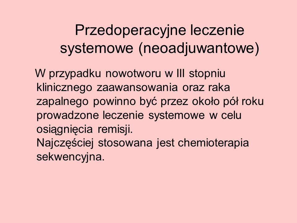 Przedoperacyjne leczenie systemowe (neoadjuwantowe)