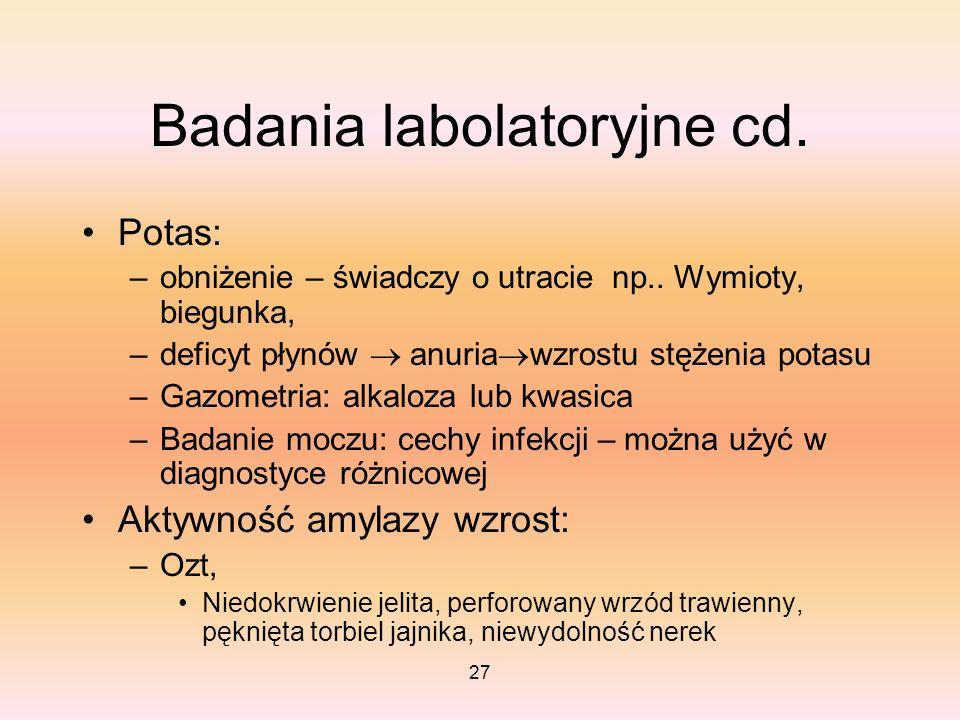 Badania labolatoryjne cd.