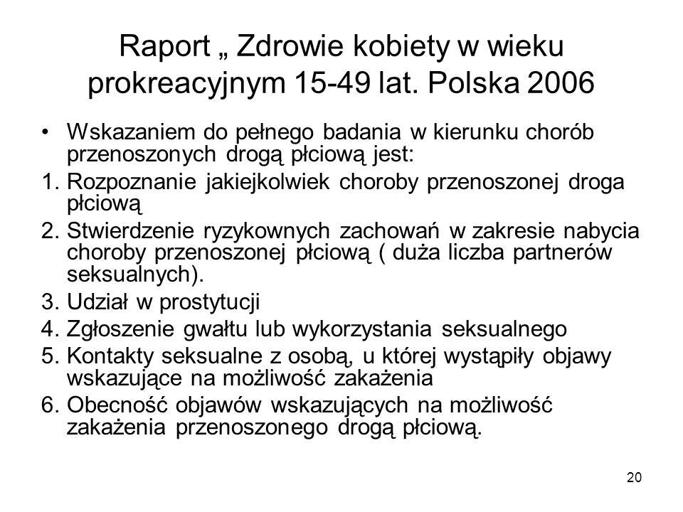 """Raport """" Zdrowie kobiety w wieku prokreacyjnym 15-49 lat. Polska 2006"""